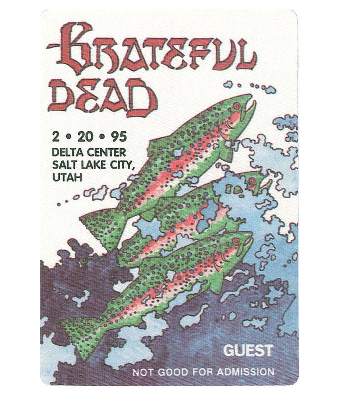 Grateful Dead 1995 02-20 Backstage Pass