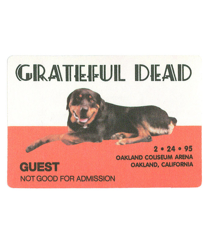 GRATEFUL DEAD 1995 02-24 BACKSTAGE PASS