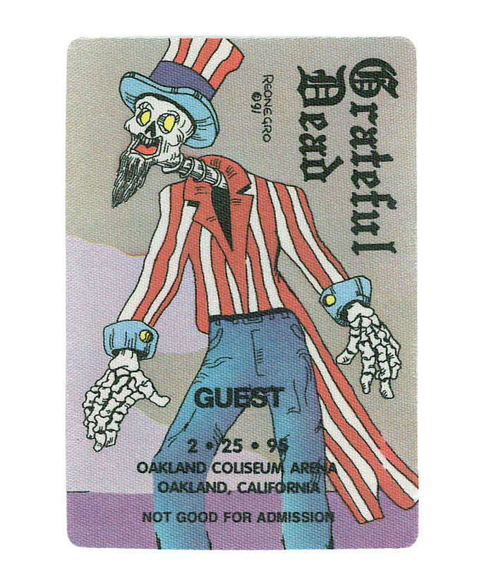 GRATEFUL DEAD 1995 02-25 BACKSTAGE PASS