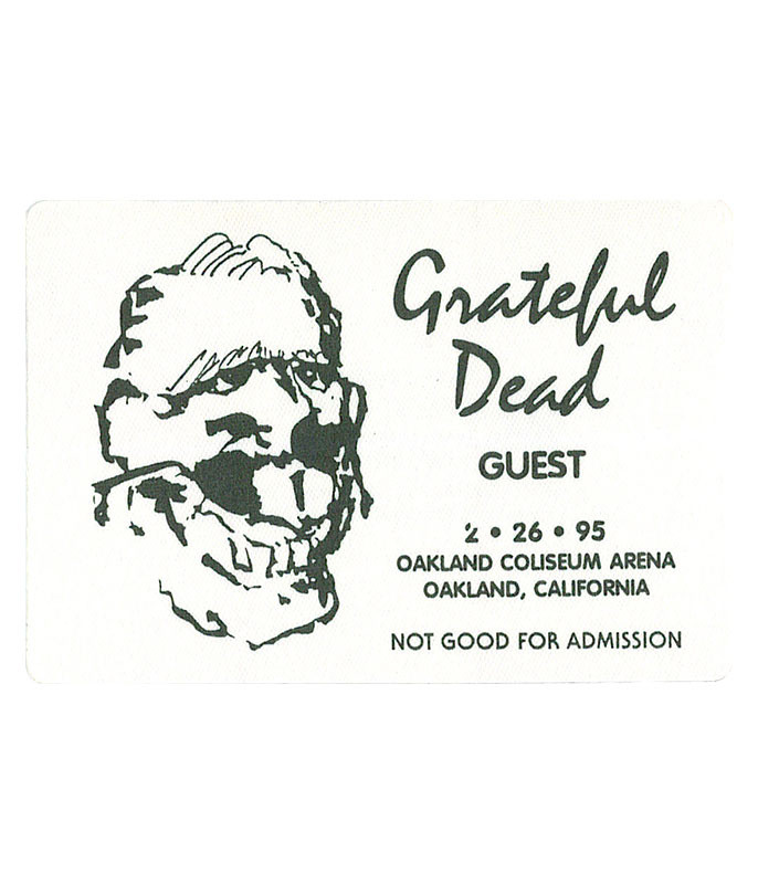 GRATEFUL DEAD 1995 02-26 BACKSTAGE PASS