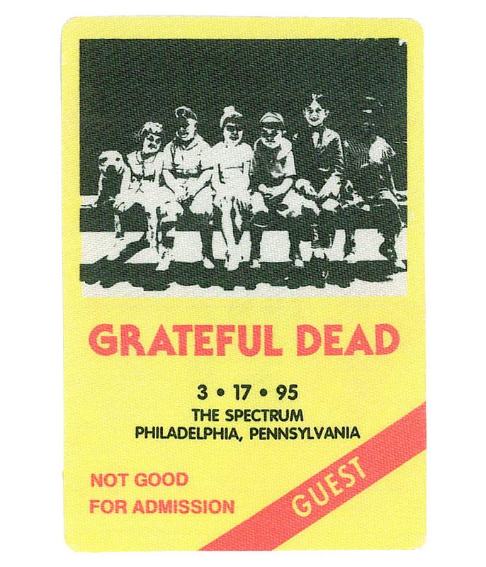 Grateful Dead 1995 03-17 Backstage Pass