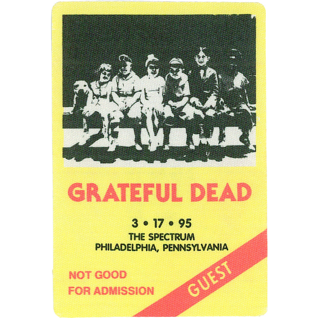 Grateful Dead 1995 03-17 Backstage Pass