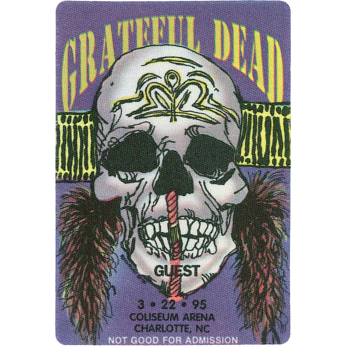 Grateful Dead 1995 03-22 Backstage Pass