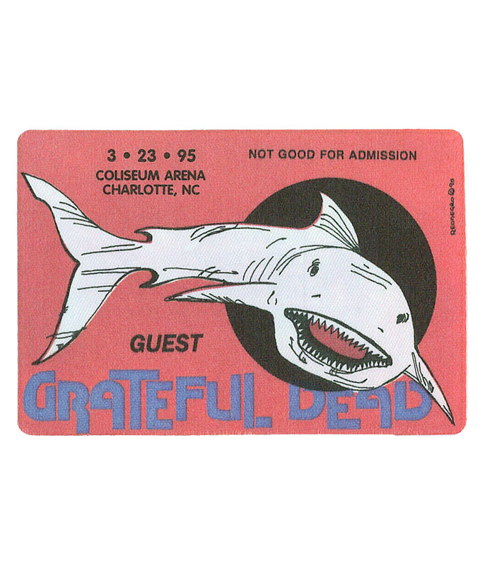 GRATEFUL DEAD 1995 03-23 BACKSTAGE PASS