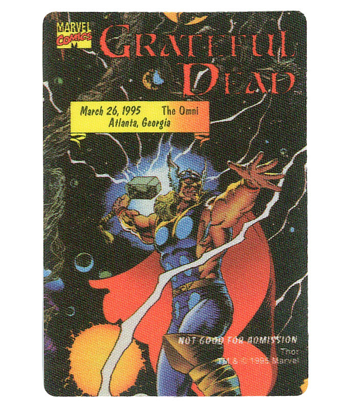 GRATEFUL DEAD 1995 03-26 BACKSTAGE PASS