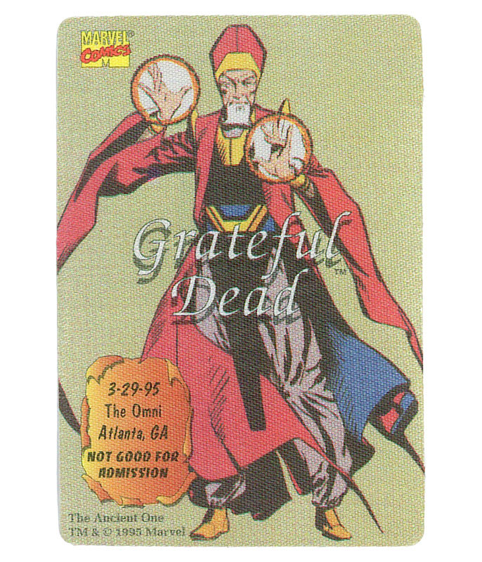 GRATEFUL DEAD 1995 03-29 BACKSTAGE PASS