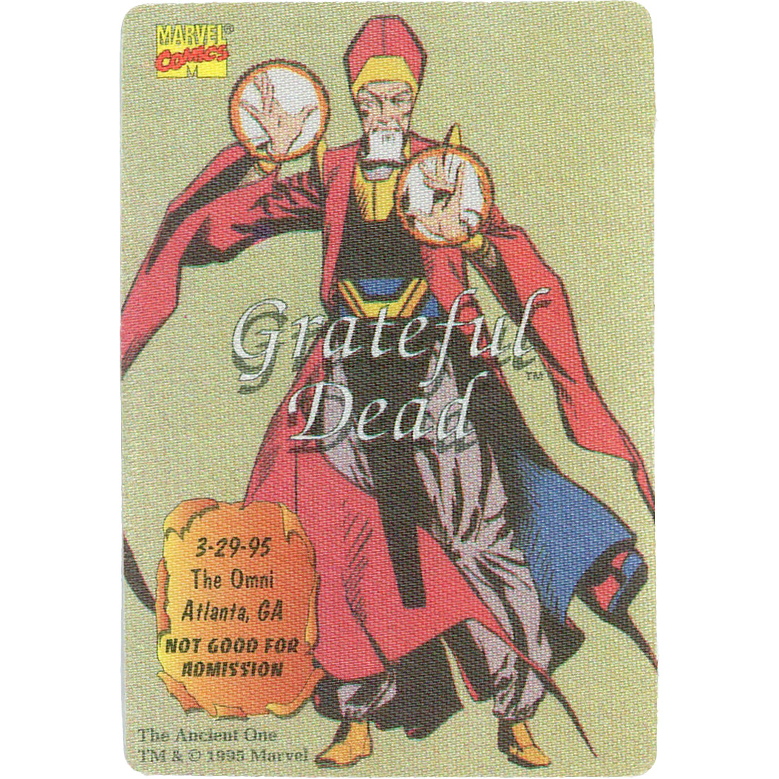 Grateful Dead 1995 03-29 Backstage Pass