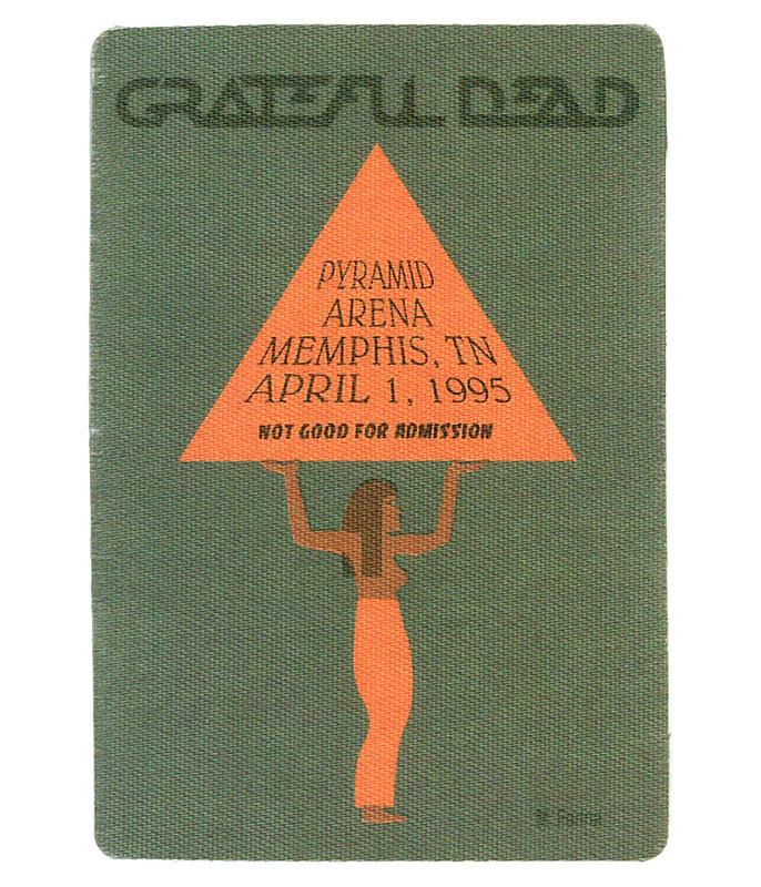Grateful Dead 1995 04-01 Backstage Pass