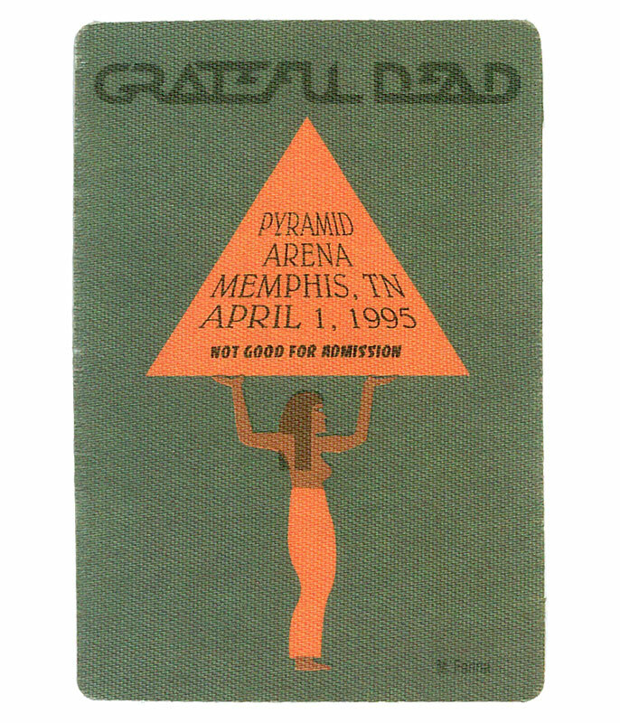 The Vault Grateful Dead 1995 04-01 Backstage Pass Liquid Blue