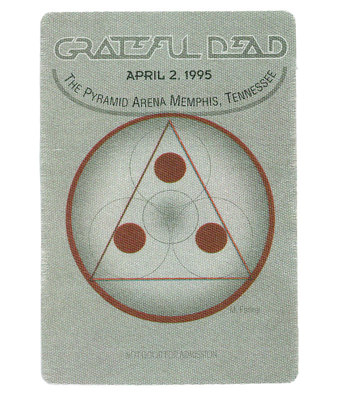 The Vault Grateful Dead 1995 04-02 Backstage Pass Liquid Blue