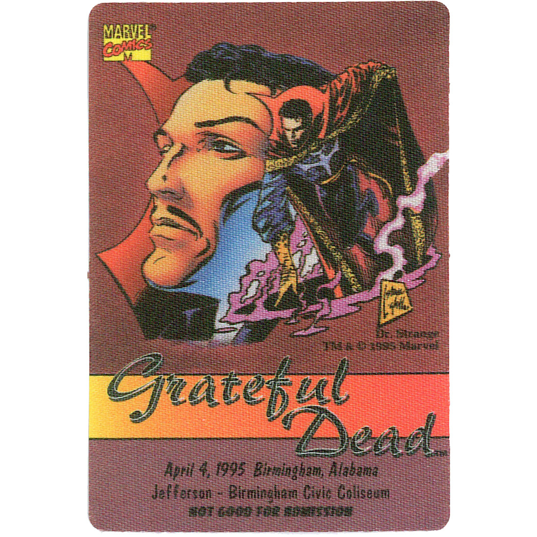 Grateful Dead 1995 04-04 Backstage Pass