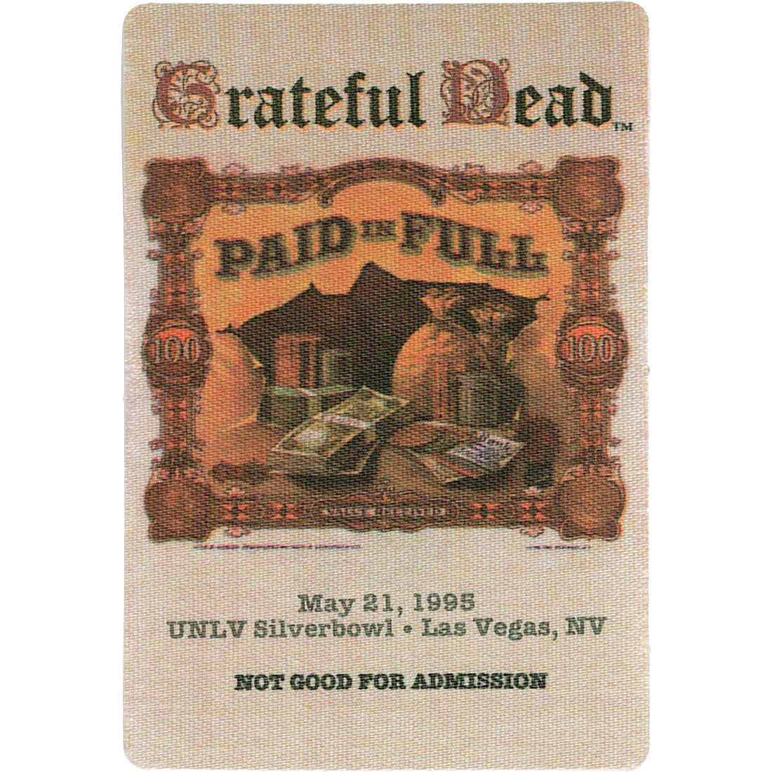 Grateful Dead 1995 05-21 Backstage Pass