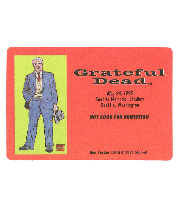 GRATEFUL DEAD 1995 05-24 BACKSTAGE PASS