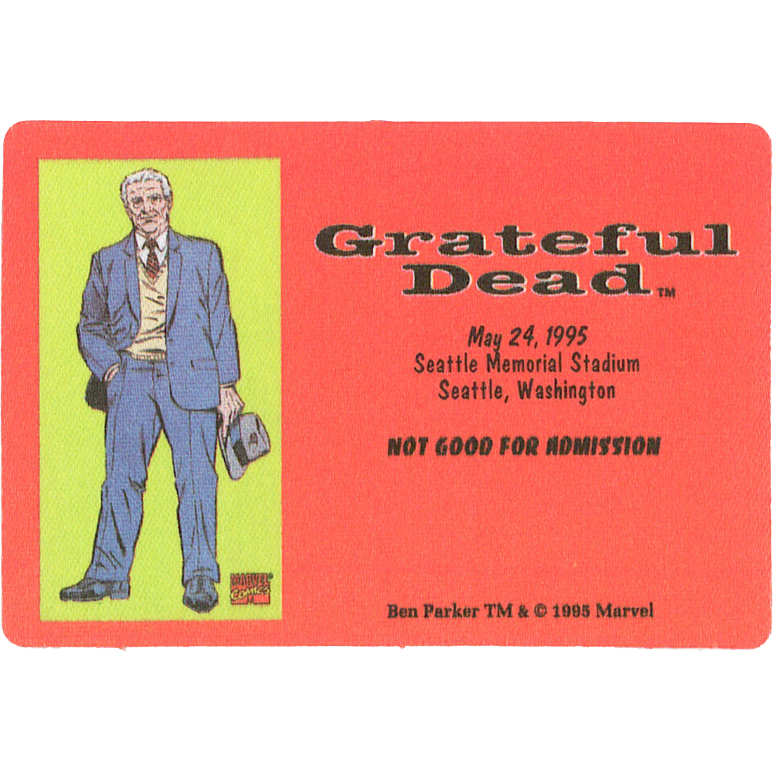 Grateful Dead 1995 05-24 Backstage Pass