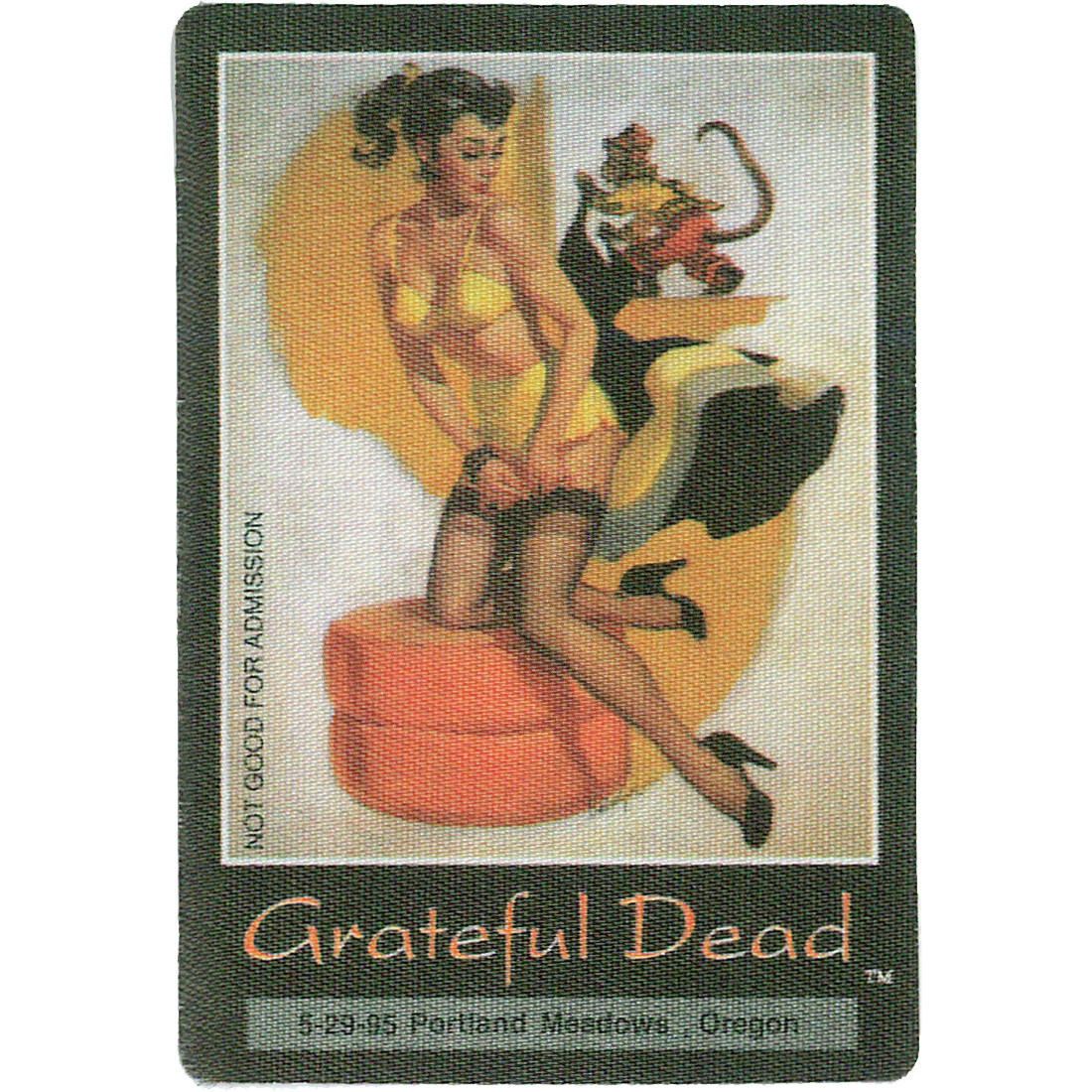 Grateful Dead 1995 05-29 Backstage Pass