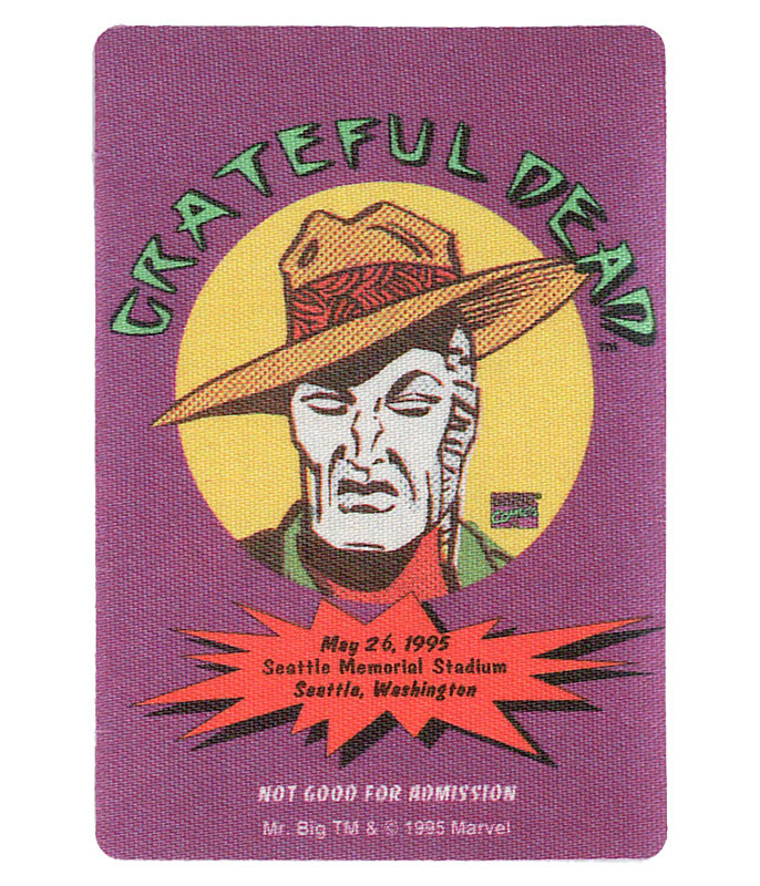 GRATEFUL DEAD 1995 05-26 BACKSTAGE PASS