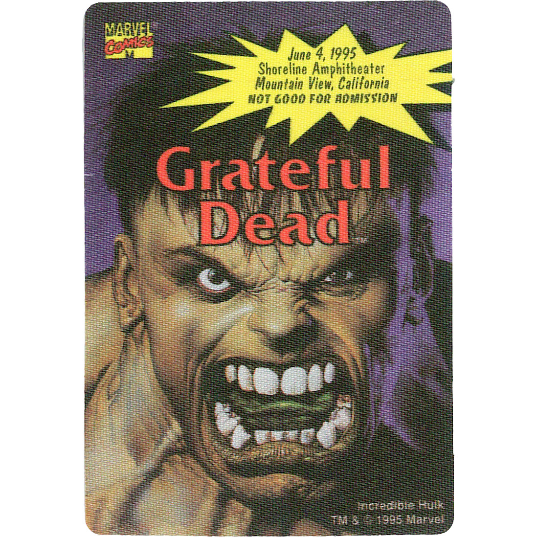 Grateful Dead 1995 06-04 Backstage Pass