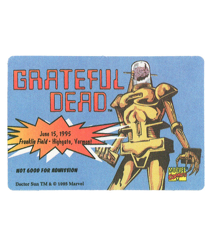 GRATEFUL DEAD 1995 06-15 BACKSTAGE PASS