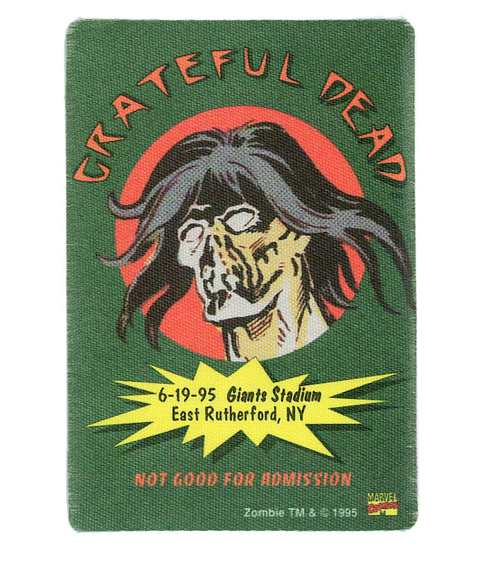 GRATEFUL DEAD 1995 06-19 BACKSTAGE PASS