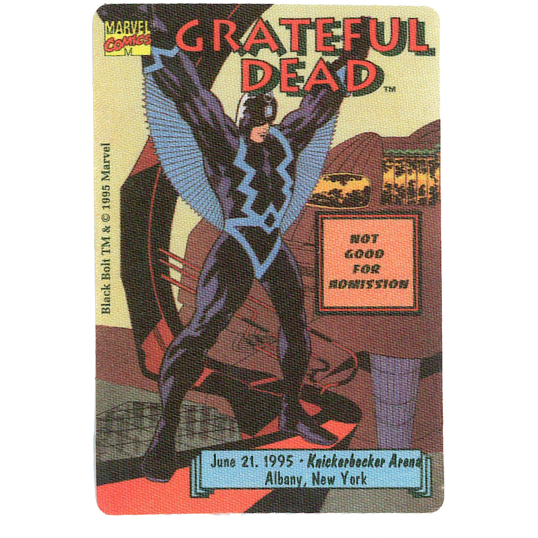 Grateful Dead 1995 06-21 Backstage Pass