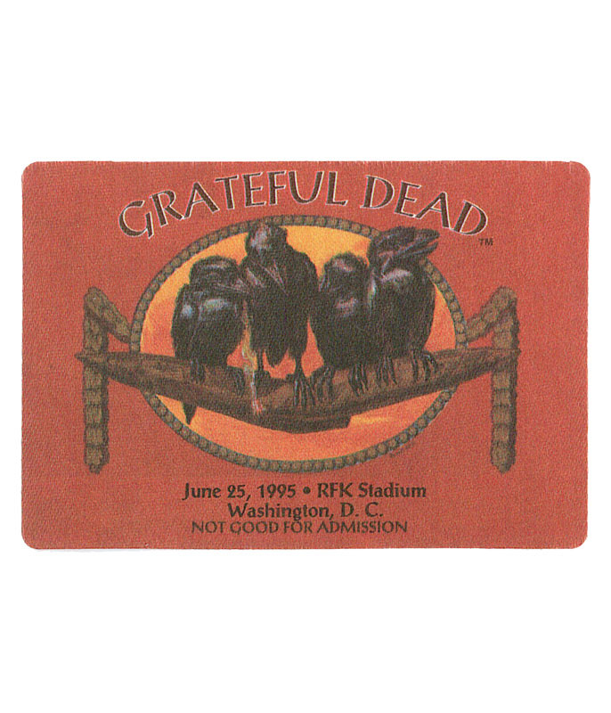 GRATEFUL DEAD 1995 06-25 BACKSTAGE PASS