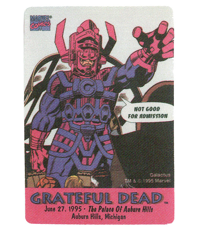 GRATEFUL DEAD 1995 06-27 BACKSTAGE PASS
