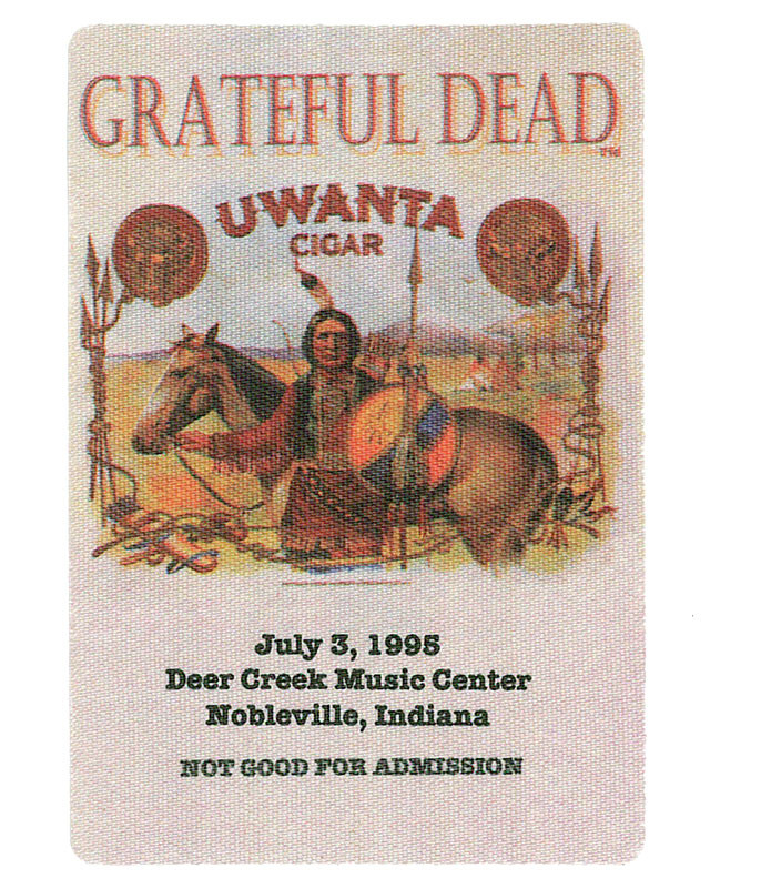 The Vault Grateful Dead 1995 07-03 Backstage Pass Liquid Blue