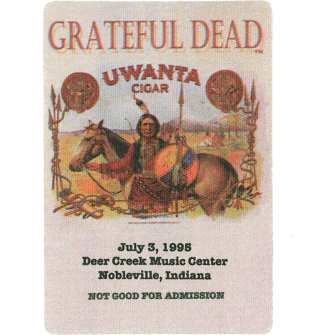 Grateful Dead 1995 07-03 Backstage Pass