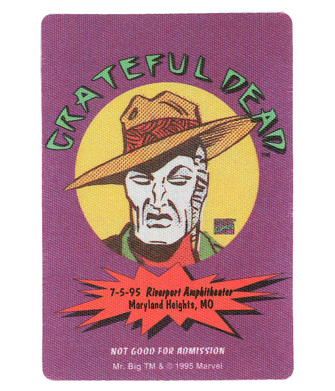 The Vault Grateful Dead 1995 07-05 Backstage Pass Liquid Blue