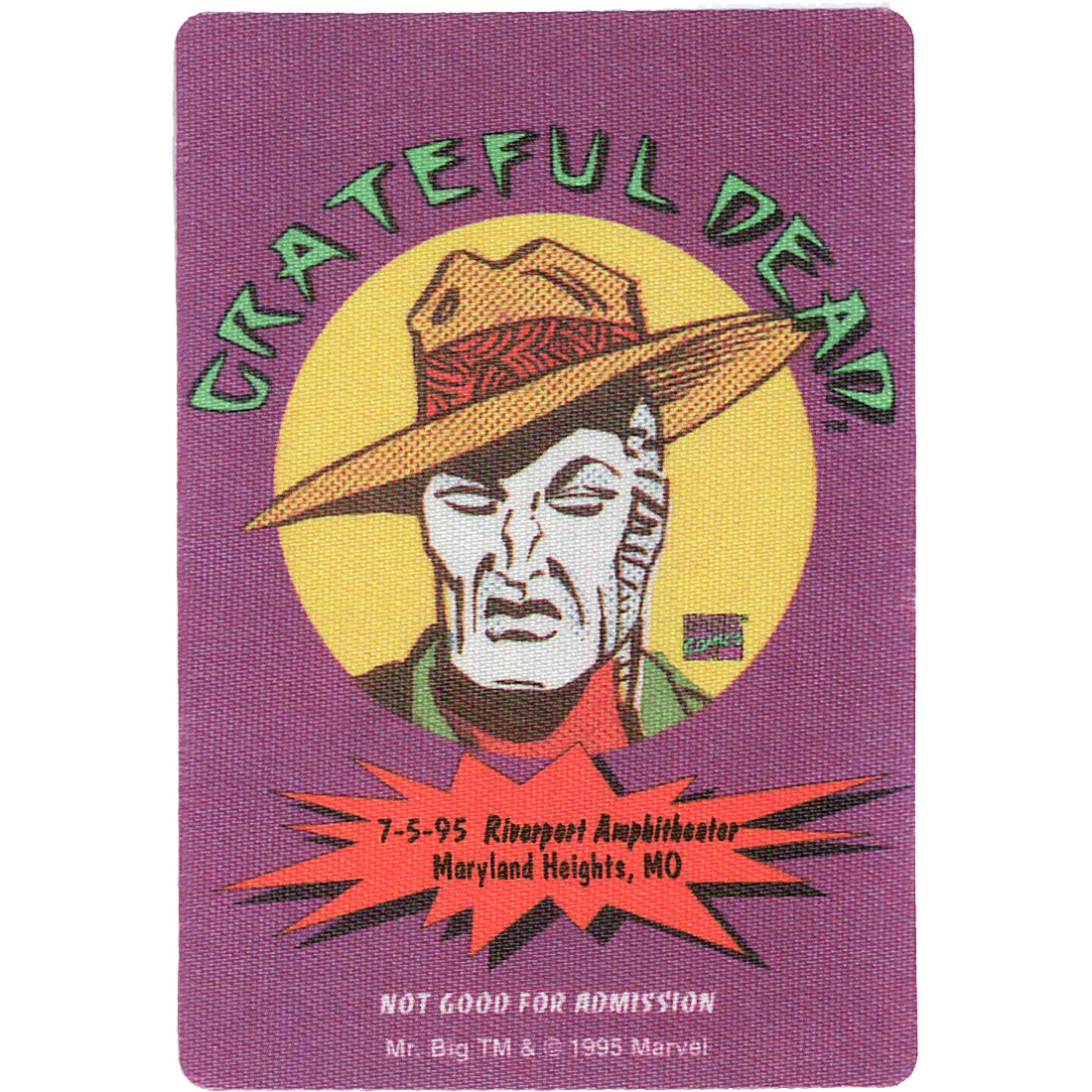 Grateful Dead 1995 07-05 Backstage Pass