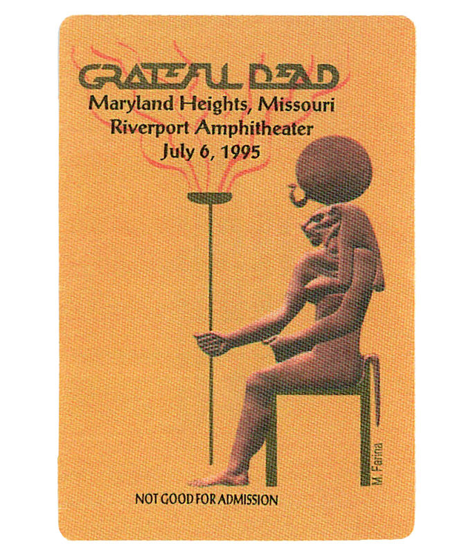 The Vault Grateful Dead 1995 07-06 Backstage Pass Liquid Blue
