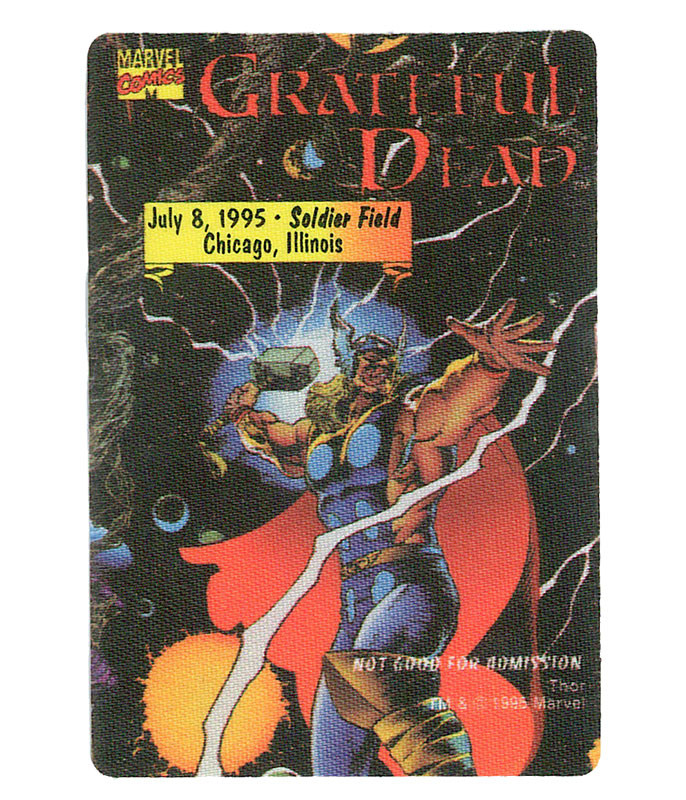 The Vault Grateful Dead 1995 07-08 Backstage Pass Liquid Blue