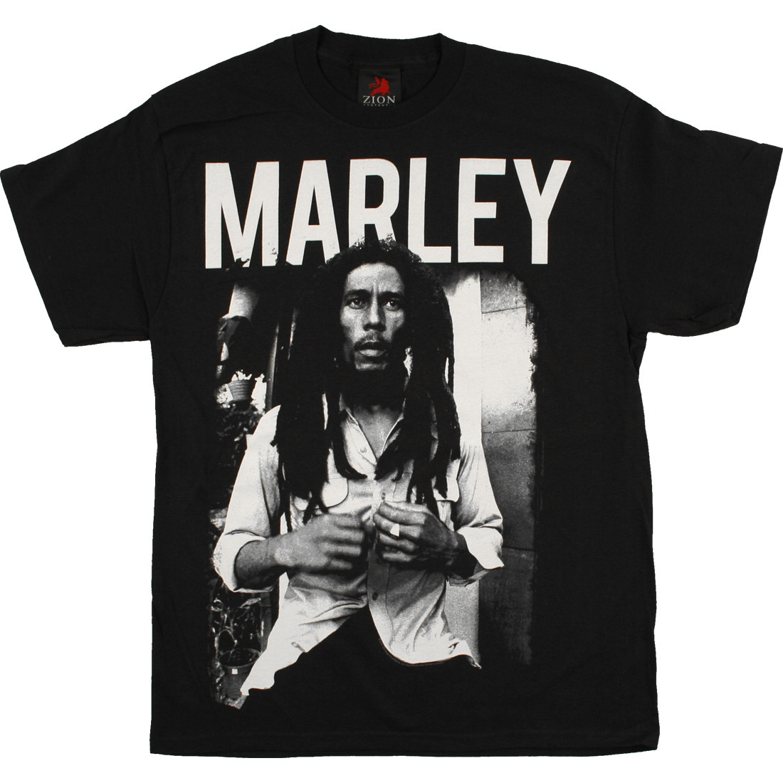 Marley Portrait Black T-Shirt