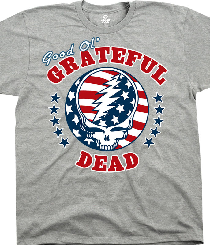 Grateful Dead Syf Independence Heather T-Shirt Tee Tee Liquid Blue