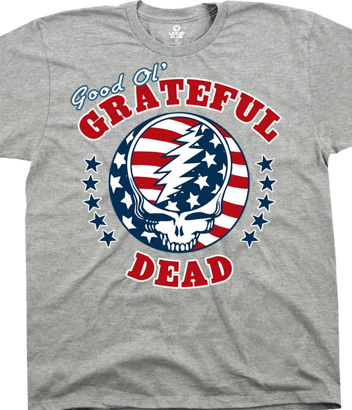 Grateful Dead Syf Independence Heather T-Shirt Tee Tee Liquid Blue