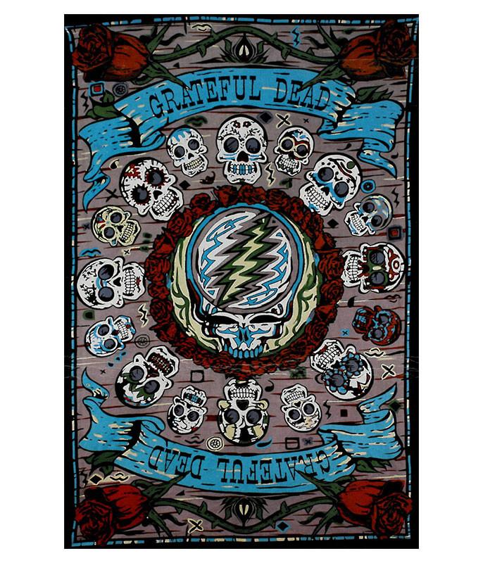 GD Mexicali Skulls Tapestry