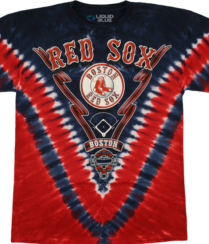 Boston Red Sox V Tie-Dye T-Shirt