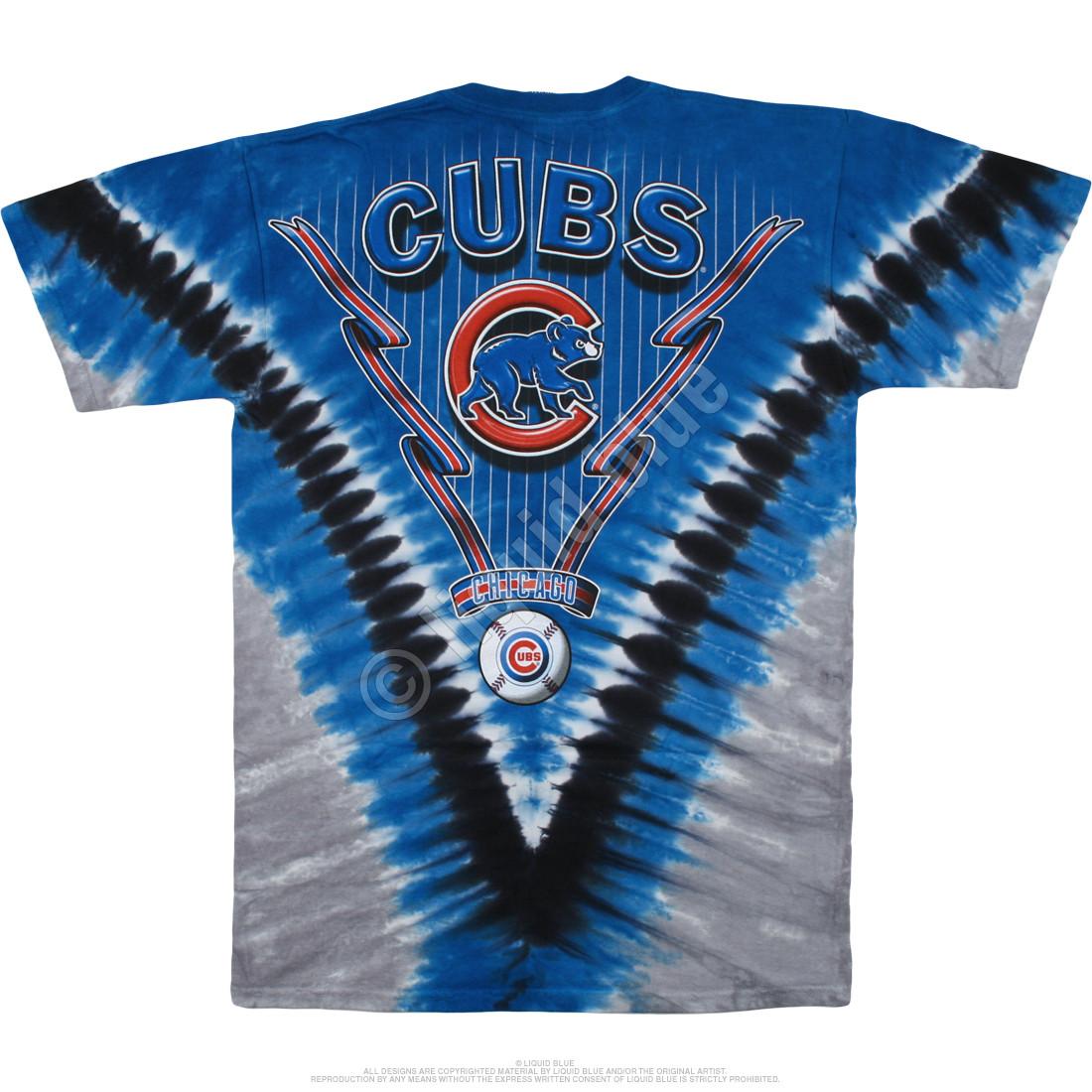 Chicago Cubs V Tie-Dye T-Shirt