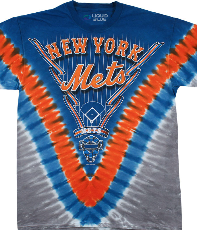 MLB New York Mets V Tie-Dye T-Shirt Tee Liquid Blue