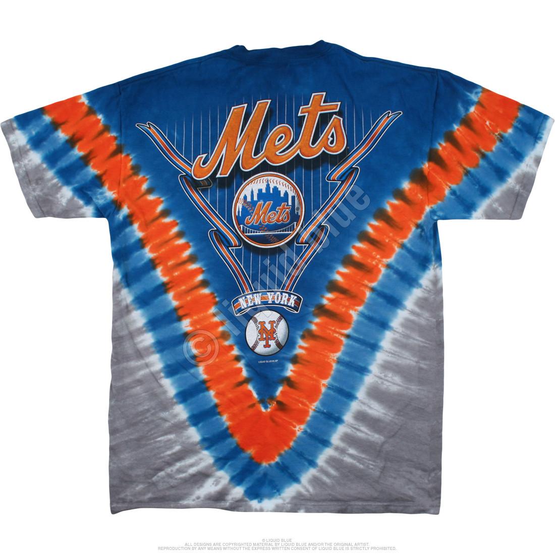 New York Mets V Tie-Dye T-Shirt