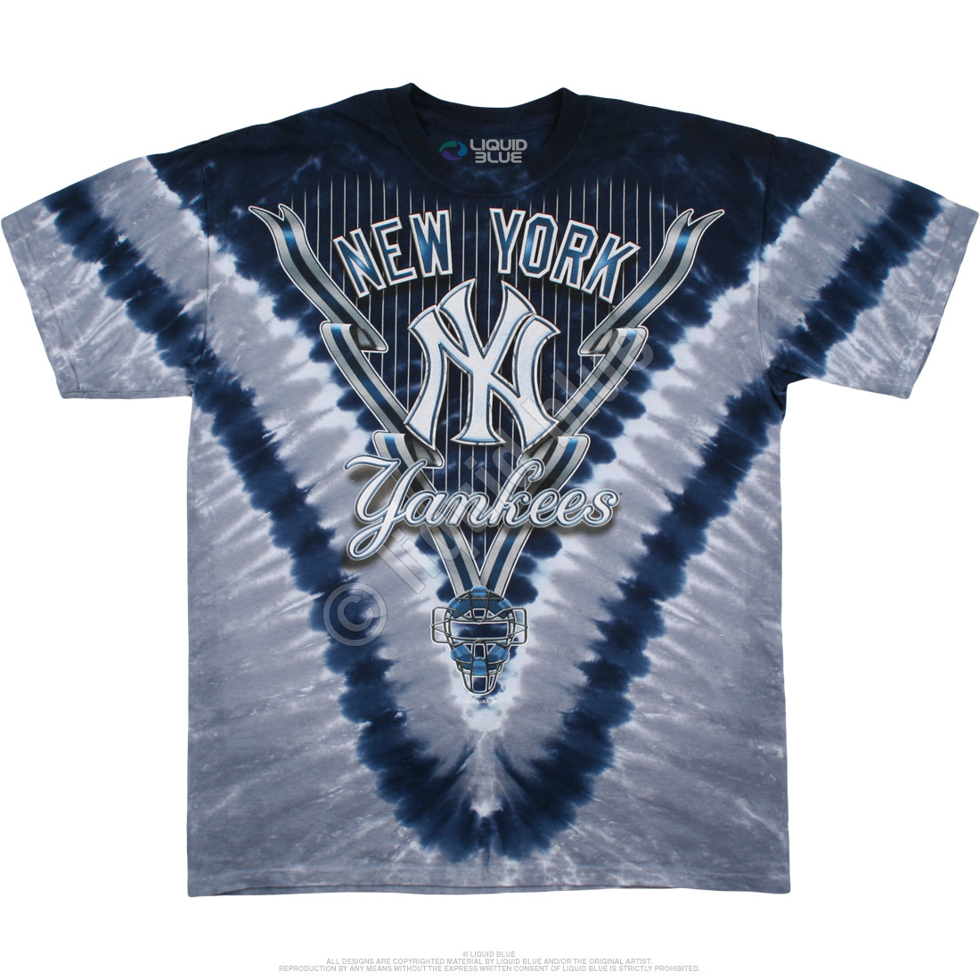 MLB New York Yankees V Tie-Dye T-Shirt Tee Liquid Blue e2c2ae57d28