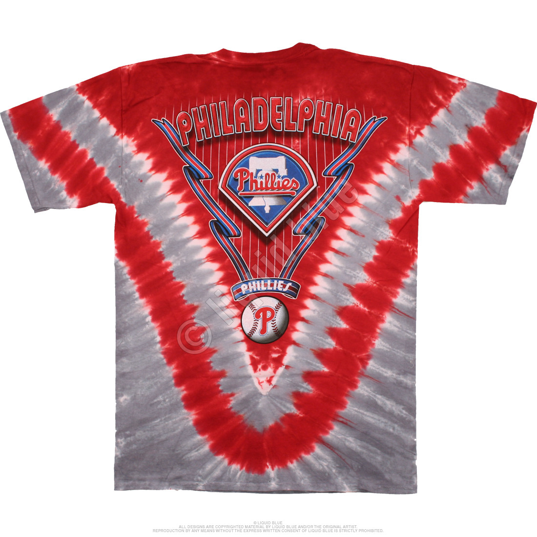 Philadelphia Phillies V Tie-Dye T-Shirt
