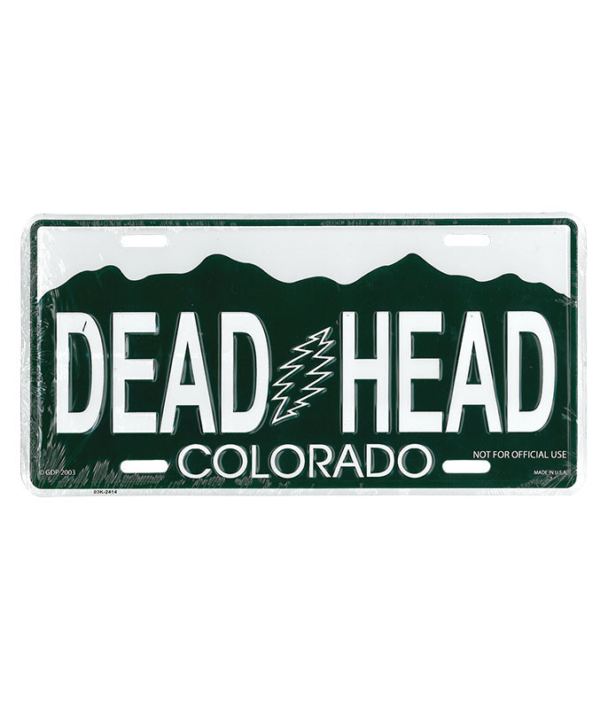 Grateful Dead GD Colorado License Plate
