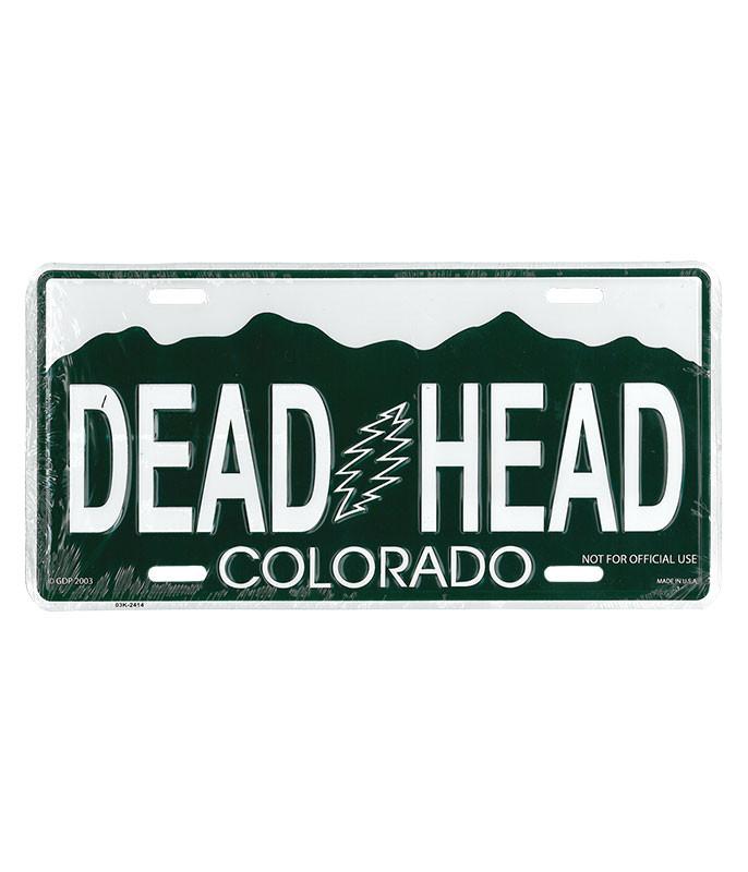 Grateful Dead GD Colorado License Plate