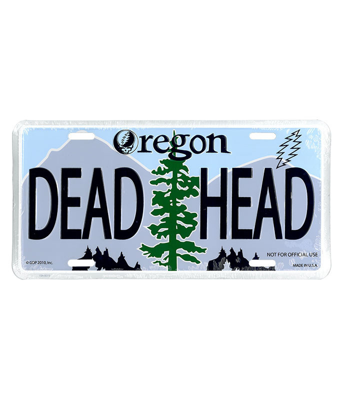 Grateful Dead GD Oregon License Plate