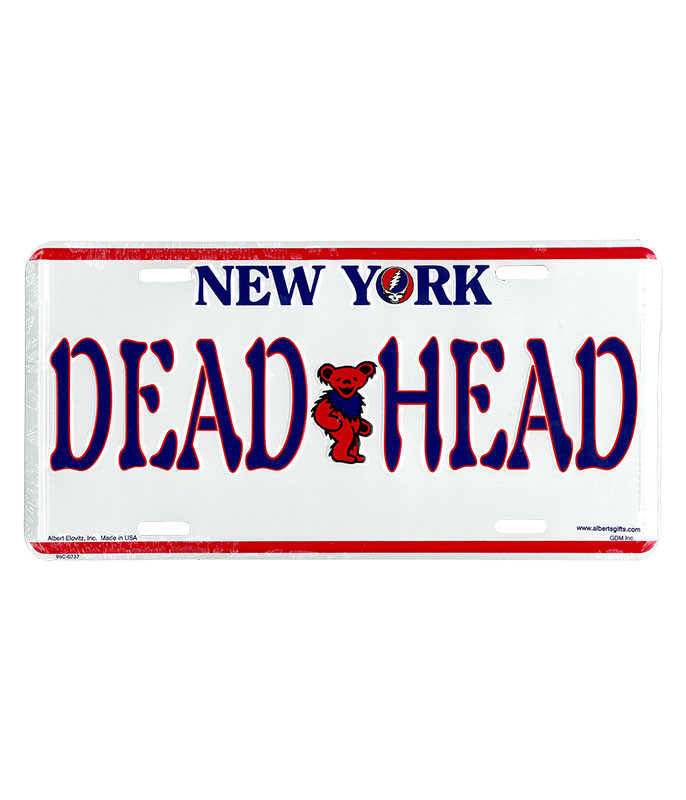 Grateful Dead GD New York License Plate