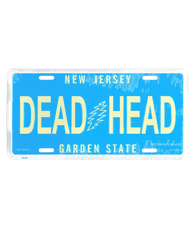 Grateful Dead GD New Jersey License Plate