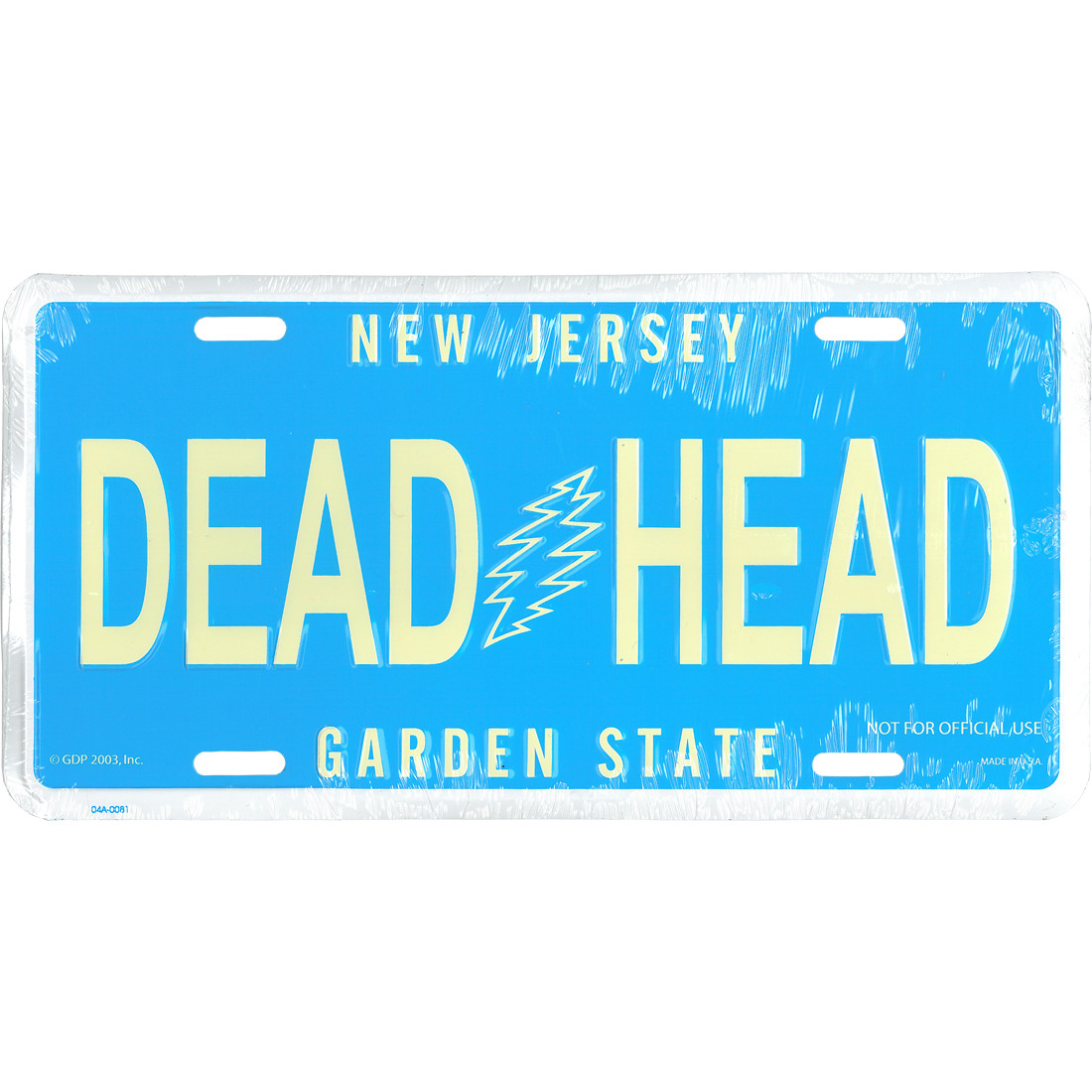 GD New Jersey License Plate