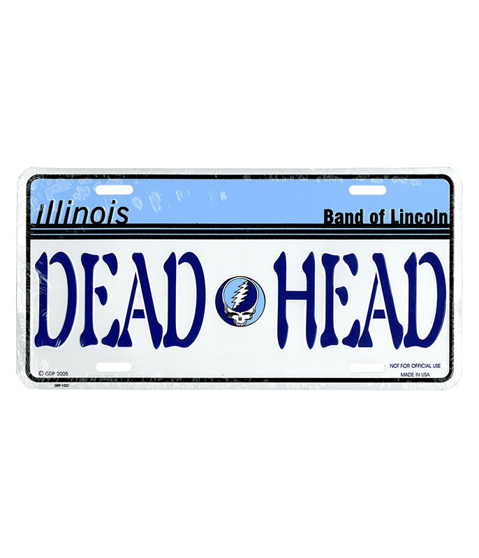 Grateful Dead GD Illinois License Plate