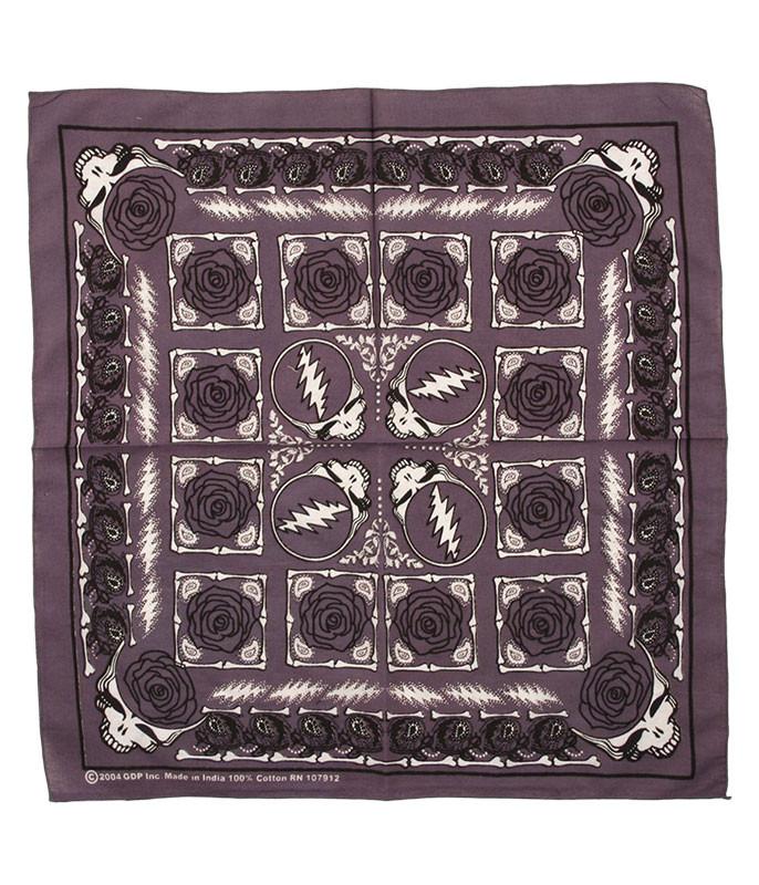 GD ROSE GREY BANDANA